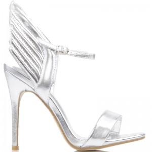 Fantazyjne Sandały na Szpilce - Złote Skrzydła