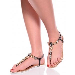 Sandały Pełne Blasku - Zdobione Japonki